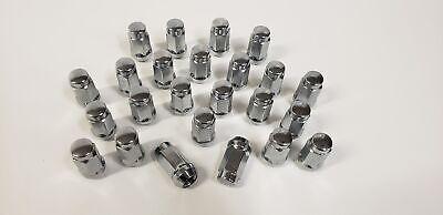 24 Bulk Pack Lug Nuts Chrome Steel 1/2 Inch Acorn Style Boat Trailer Wheel Rims