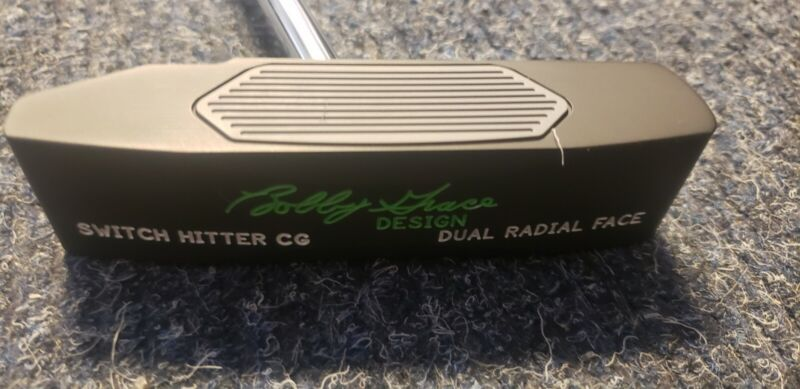 """Bobby Grace Switch Hitter CG Dual Radial Face Putter 35"""" with tour shop cover."""