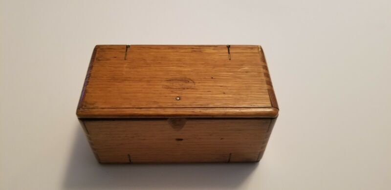 Antique 1889 Singer Sewing Machine Attachments Tools Puzzle Box Oak Treadle