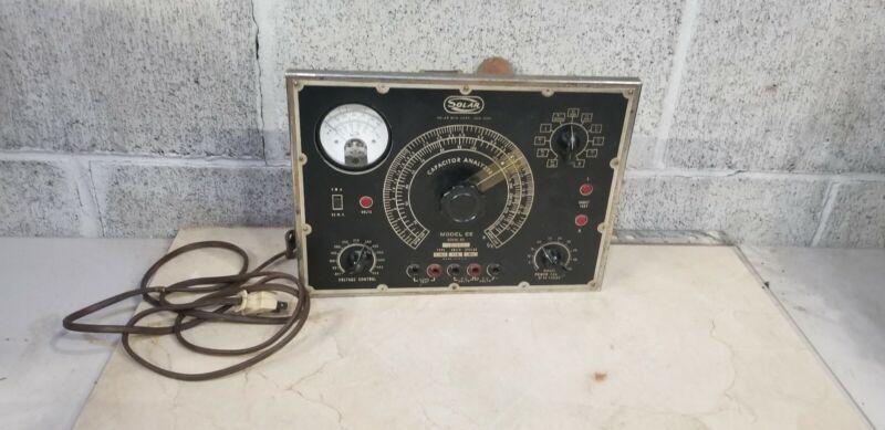 Vintage 1940's SOLAR CE CAPACITOR ANALYZER