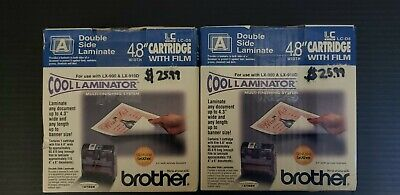 Genuine Brother Lc-a5 Cool Laminator 9 Cartridgefilm Adhesive X2 New In Box