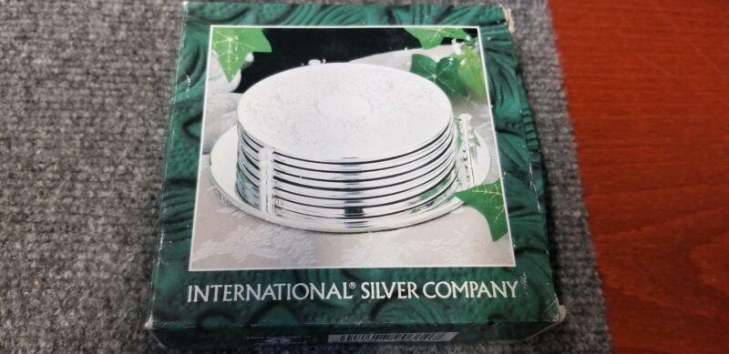 NIB Vintage 7 Piece International Silver Company Coasters #99110310