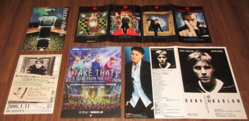 $0 ship! TAKE THAT Japan PROMO booklet & flyer x 5 set Robbie WILLIAMS G.BARLOW