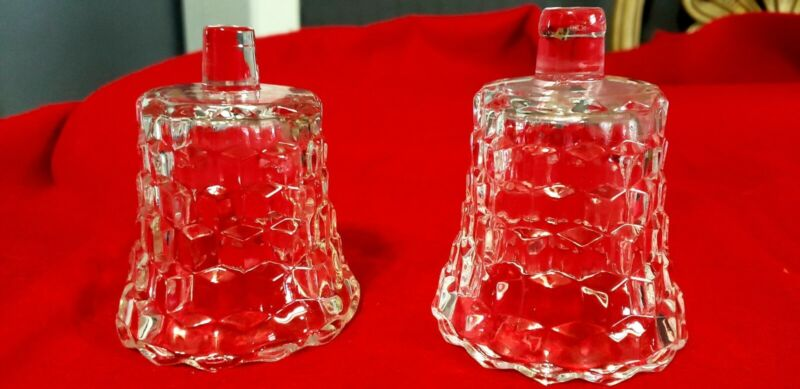 Vintage Clear Glass Votive PEG Candle Holders with Scallop Edge. (Set of Two)