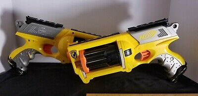 NERF Gun Lot - 2 NERF N-STRIKE ELITE REV-6 and 30 Darts