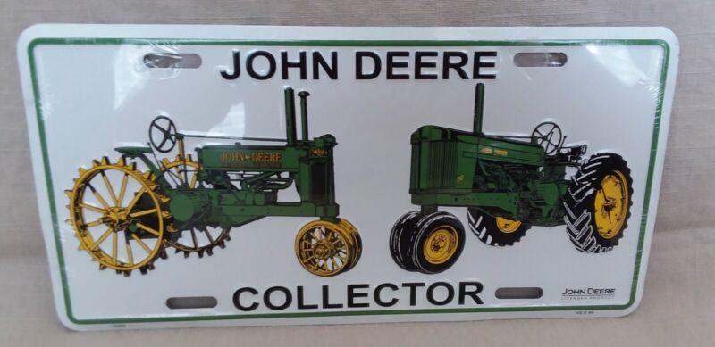 "John Deere Collector 12"" x 6"" Embossed Metal License Plate New"