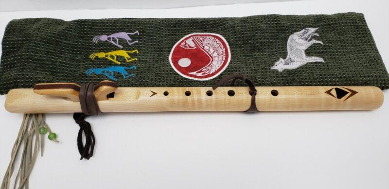 High Spirits Wood Wooden Flute C Note 6 Hole Spanish Cedar w Detailed Soft Bag
