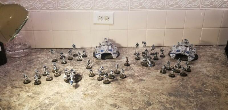 Star wars Legion Painted Army 501st Clone wars Rex Anakin