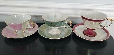 Vintage Restaurant Ware 4 oz Bowls x 4 Vintage China Dessert Custard Cups Pink and White Town Brand