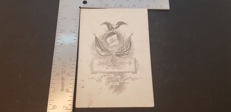 1901 James G Steely & Co Spring & Summer Display Invitation For Millinery Items