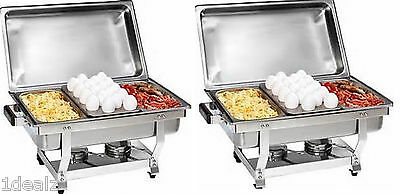 13 Size Chafer Pan 6 Pack Catering Hotel Chafing Dish One Third Size Pans