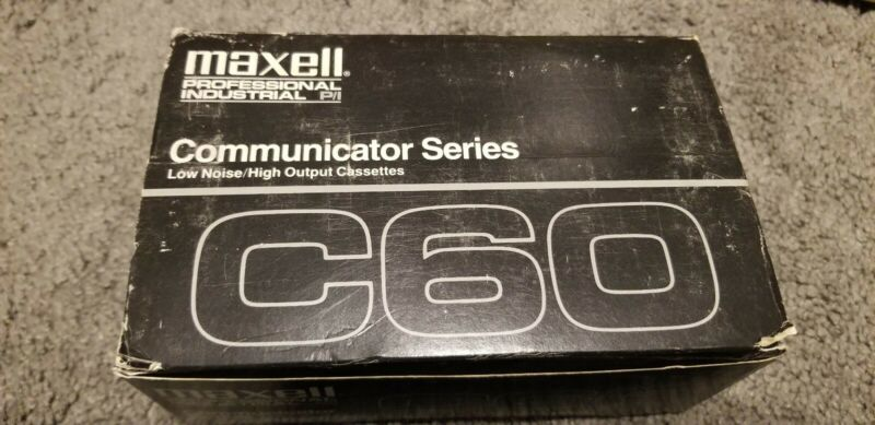 10 Maxwell professional industrial communicator series C60 cassette low noise