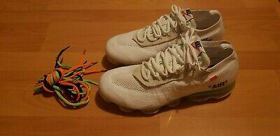 Nike X Off White Vapormax White UK10 Men's Running Shoe New rare without box/tag