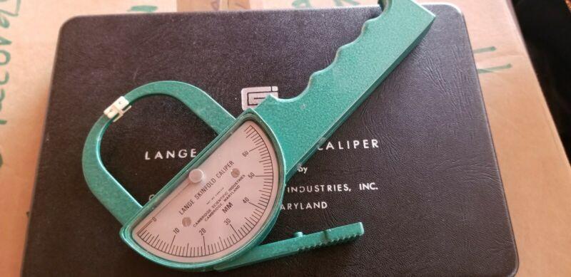 Vintage Lange Skinfold Caliper Beta Technology with case + manual Cambridge
