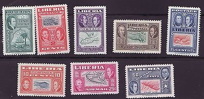 Liberia # 332-37 C68-69 MNH Complete Map