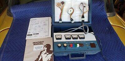 Vintage Heathkit Crt Tester Rejuvenator Model It-5230 With Adapters