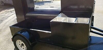 Triple Sink Setup Bbq Smoker 36 Grill Trailer Catering Food Cart Truck Business