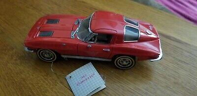 Franklin Mint 1963 Corvette Stingray Diecast Model 1:24 Scale