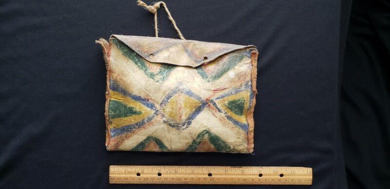 "19th Century Native American Indian Parfleche Medicine Container, "" RARE """