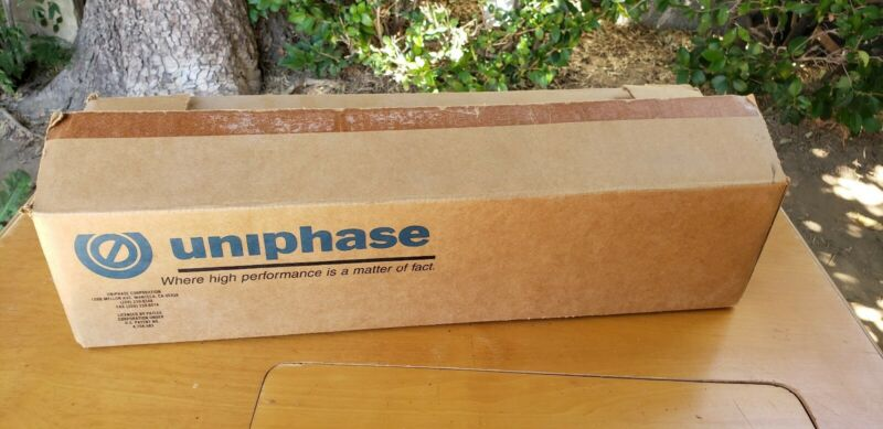 UNIPHASE HELIUM NEON GAS LASER Mint in Box Working!