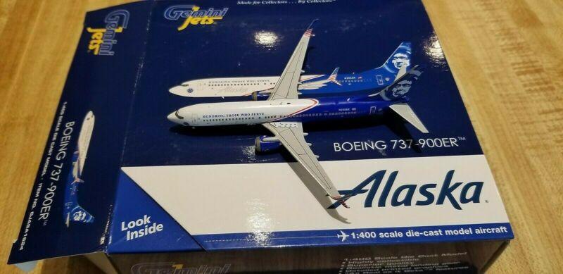 Gemini Jets Alaska Airlines B737 1:400 GJASA1624 Honoring Those Who Serve N265AK