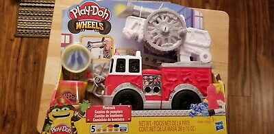 Play Doh Wheels Firetruck Toy with 5 Non Toxic Colors.