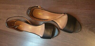 Next Ladies Block Heel Sandal/Shoes Size 6.5 in good condition