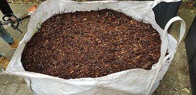 One tonne bag of seasoned Bark mulch