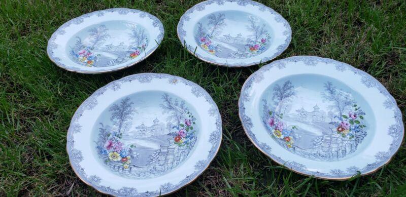 Aynsley queens garden Soup Bowls, Rare!