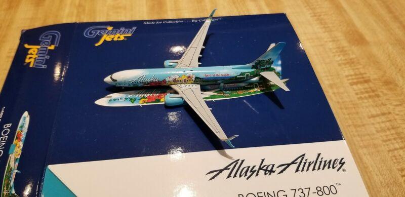Gemini Jets Alaska Airlines B737 1:400 GJASA1358 Islands of Hawaii Colors N560AS