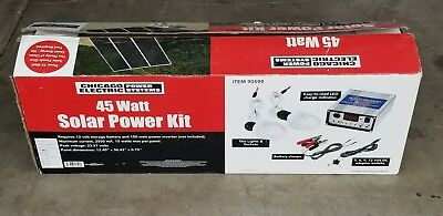 Solar Electric Panels - Chicago Electric 45 Watt Solar Panel Kit Model 90599 NIB