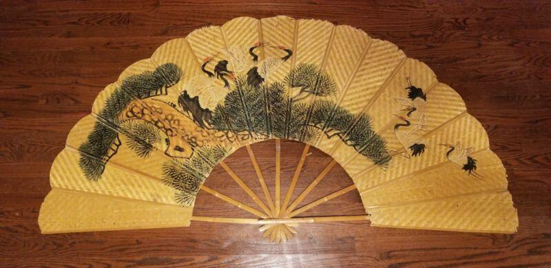 Antique Bamboo Fan