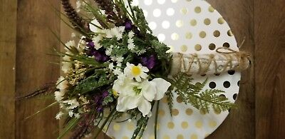 (Rustic burlap twine vintage Wildflower And Lavender Bridal Bouquet)
