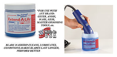 EXTEND A LIFE CLIPPER BLADE CLEANER RINSE DIP/WASH Lube*For Oster,Andi​s,Wahl for sale  Shipping to India