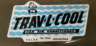 Vintage Trav-L-Cool Car Swamp Cooler Window Air Conditioner Decal. High Quality