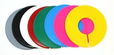 Blank Round Plastic Rack Size Dividers - Variety Color Pack 1 Of Each Color