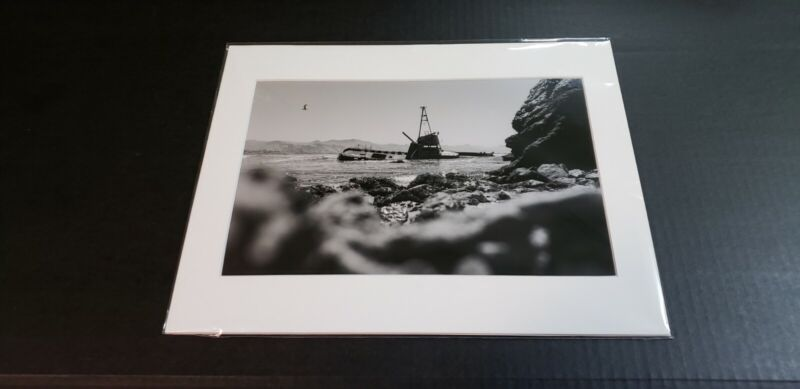Matted Original Photograph 11x14 California Shipwreck - Salty Haired Kids Photo
