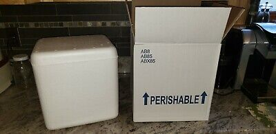 11 58 10 12.25 Omaha Box Insulated Foam Container Shipping Box Mailer Several