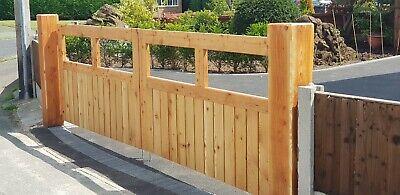 Beautiful Larch gates 58mm THICK