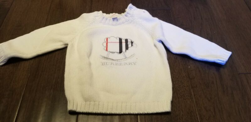 Burberry 18 months Baby Girls Boys white Knitted Sweater