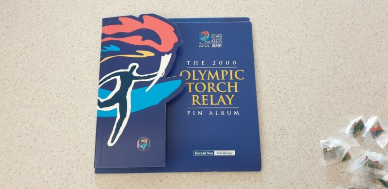 Complete set of 2000 Olympic tourch relay pin badge Sun Herald Australia