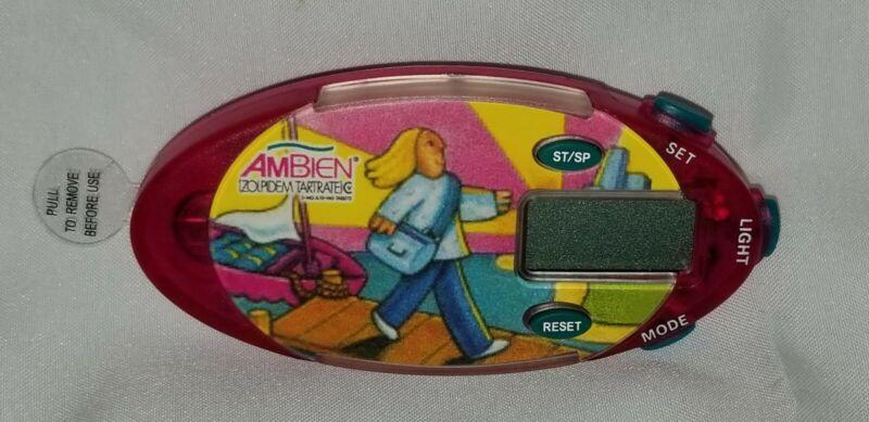 RARE Ambien Stethoscope Chrono Alarm Stopwatch Clip NEW Drug Rep Pharma Light