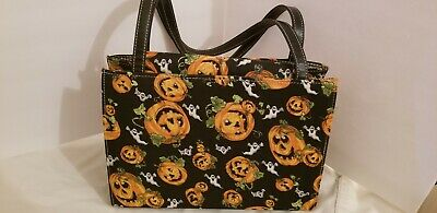 Halloween Decorative Purse Featuring Pumpkins And Ghosts