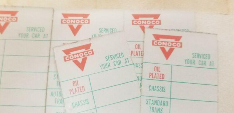VINTAGE 200 +- CONOCO OIL SERVICE STICKERS