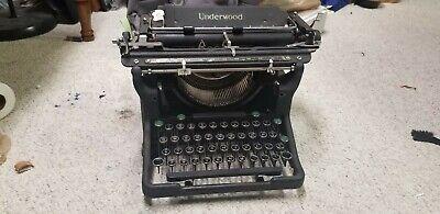 Antique 1940 Underwood Champion Typewriter Model No. 6, Elite Pitch, works well!