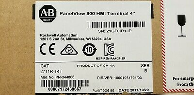 Rockwell Automation Cat2711r-t4t. Allen Bradley Panelview 800 Hmi Terminal 4