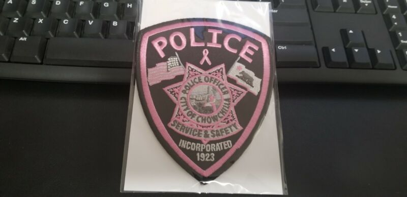 Chowchilla California Police Patch PINK Breast Cancer Awareness