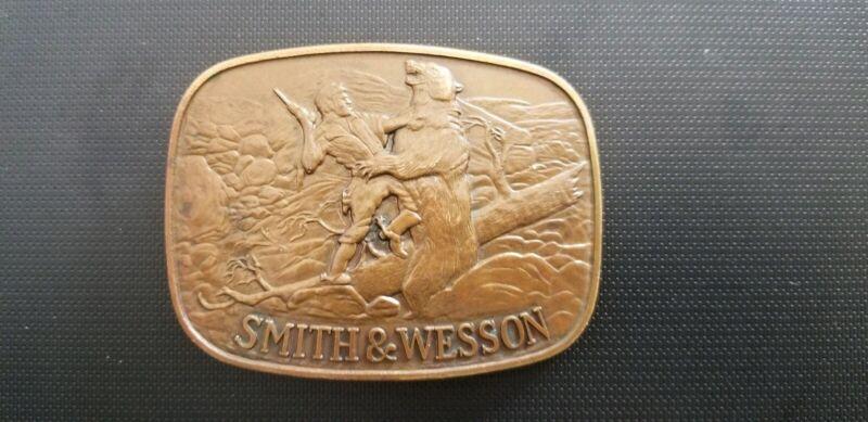 Vintage 1978 Smith & Wesson Brass Belt Buckle The Last Cartridge