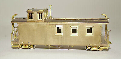 Hon3 Brass Precision Scale Co. D&RGW Round Roof Caboose Caboose, Unpainted