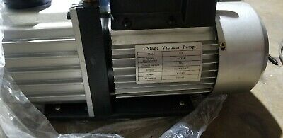 9cfm Rotary Vane Vacuum Pump Air Refrigeration Single Stage 300ml 34hp 110v